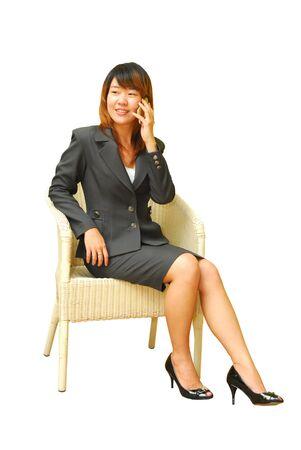 beautiful business woman on the phone Stock Photo - 10677822