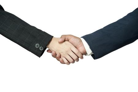 握手ビジネス人々