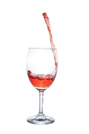 Red Wine Abstract Splashing Stock Photo - 10680379