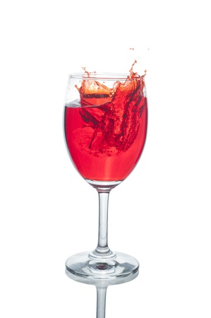 moving red wine glass Stock Photo - 10680496