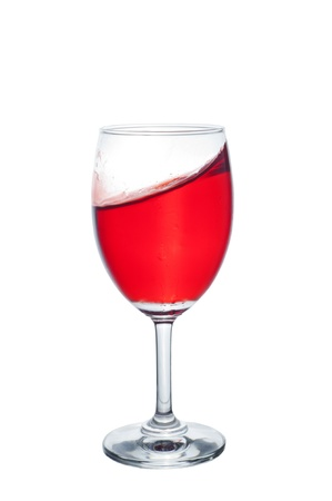 moving red wine glass  photo