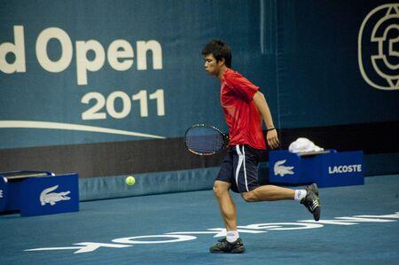 atp: BANGKOK THAILAND- SEPTEMBER 24 : PTT Thailand Open 2011 ( ATP ) on September 24, 2011 at Impact Arena Muang Thong Thani Bangkok Thailand