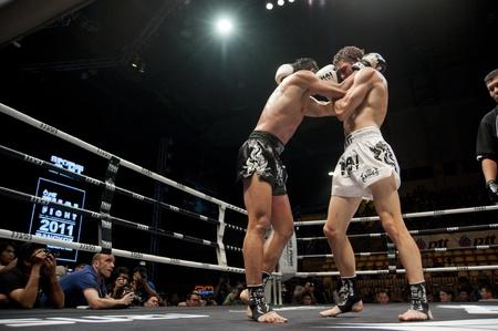 BANGKOK THAILAND- SEPTEMBER 25 : Thai Fight : Muay Thai..World