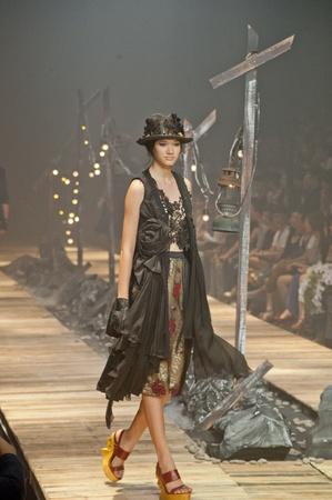 BANGKOK, THAILAND - OCTOBER 13 : A model is walking the runway at