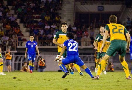 FIFA World Cup 2014 between Thailand (B) and Australia (Y) at Supachalasai National Stadium on November 15, 2011 in Bangkok, Thailand
