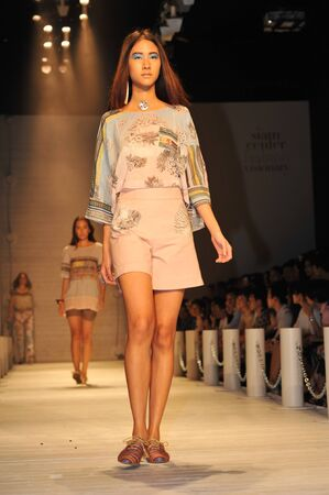BANGKOK, THAILAND - MARCH 23  : Model walks the runway at