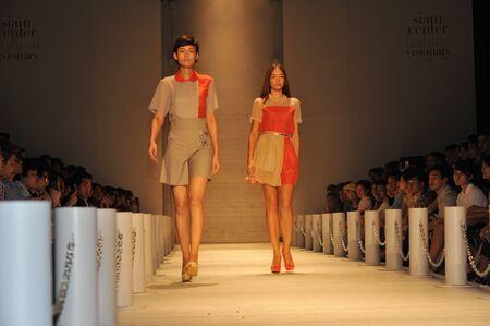 BANGKOK, THAILAND - MARCH 23  : Model walks the runway at