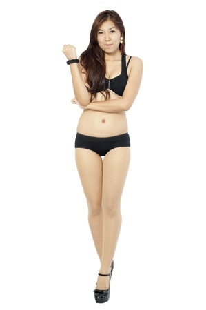 young Asian girl in bikini  photo