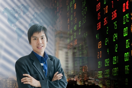 Businessman or stock broker Stock Photo - 18568638