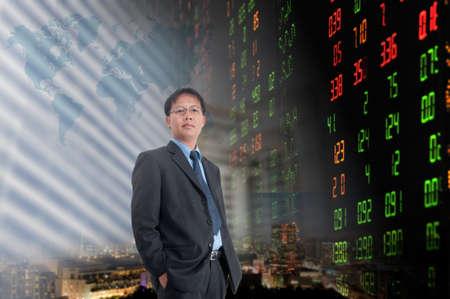Businessman or stock broker  photo