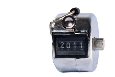Hand held tally counter isolated on white Stock Photo - 19377800