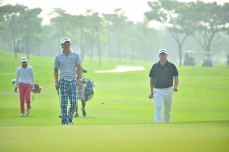 CHONBURI - DECEMBER 14 : Ryo Ishikawa of Japan player in aciton during Thailand Golf Championship 2013 at Amata Spring Country Club on December 14, 2013 in Chonburi, Thailand.