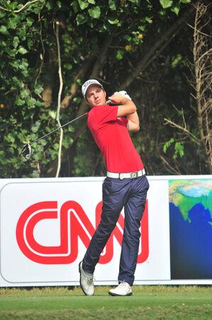 wade: CHONBURI - DECEMBER 14 : Lionel Weber in aciton during Thailand Golf Championship 2013 at Amata Spring Country Club on December 14, 2013 in Chonburi, Thailand.