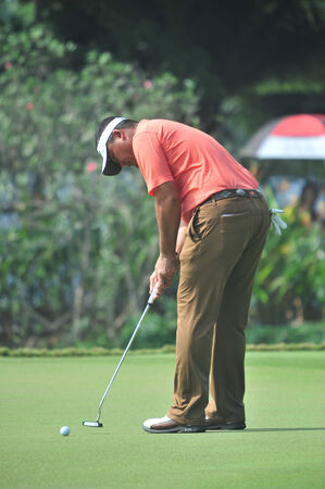 wade: CHONBURI - DECEMBER 14 : Wade Ormsby in aciton during Thailand Golf Championship 2013 at Amata Spring Country Club on December 14, 2013 in Chonburi, Thailand.  Editorial