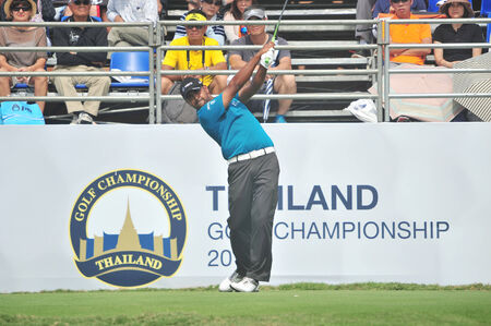 CHONBURI - DECEMBER 14 : Anirban Lahiri in aciton during Thailand Golf Championship 2013 at Amata Spring Country Club on December 14, 2013 in Chonburi, Thailand.