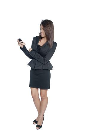 Beautiful woman calling by phone  photo