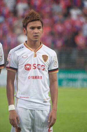 premierleague: BANGKOK THAILANDIA-28 maggio: Thai Premier League Singtrareo Fc e Muangthong United a Pat Stadiumon maggio 28,2014 in Thailandia