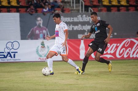 premierleague: PATHUMTHANI THAILAND-Jul19 Thai Premier League between Police United and Sisaket FC at Thammasat Stadium on July19,2014,Thailand