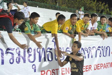 premierleague: BANGKOK THAILANDIA-4 marzo Thai Premier League tra dell'esercito degli Stati e Chonburi fc a Army Stadiumon maggio 4,2014 in Thailandia Editoriali