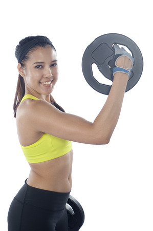 30 year old: Young beautiful woman 20 - 30 year old during fitness time and exercising