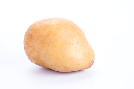 russet potato: Raw Potato on white background with clipping path Stock Photo