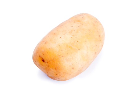 russet potato: Raw Potato on white background with clipping path Stock Photo