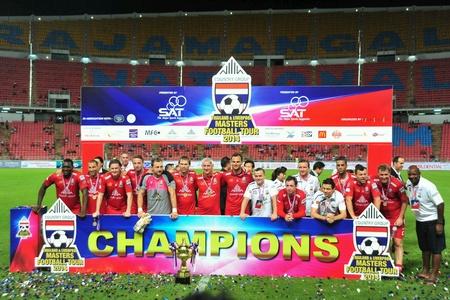 tou: Thailand, Nov 17: Football friendly match, country group thailand vs Liverpool masters football tou.