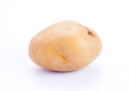 russet potato: Raw Potato on white