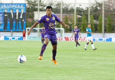 tot: NONTHABURI THAI-FEB 21: football Thai Premier League2015 between TOT SC and Army UTD.at TOT Stadium on February 21,2015 in,Thailand