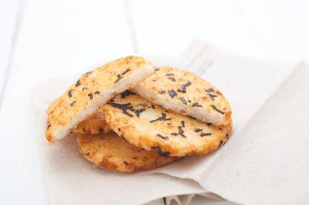 galletas integrales: Galletas cubiertas con algas