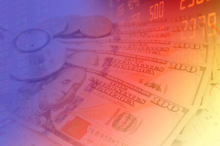 米ドルと金融背景。マクロ画像。