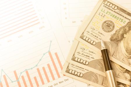 미국 달러 및 금융 배경입니다. 매크로 이미지입니다. 스톡 콘텐츠