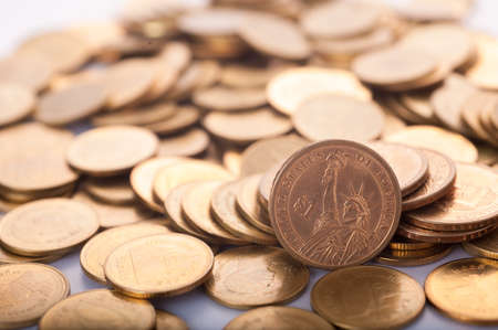 US dollars and finance background. Macro image.