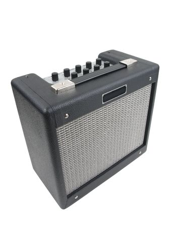 Electric Guitar Amplifier Isolated Stock Photo