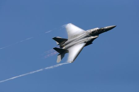 sonic: F-15 Eagle making a high speed pass with the afterburner on