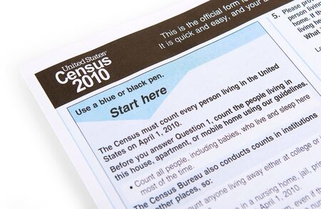 decade: the 2010 United States census form on a white background