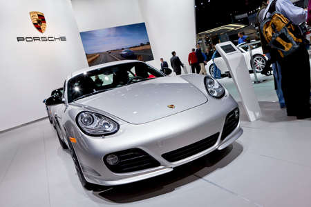 carrera: DETROIT - JANUARY 11: The 2012 Porsche 911 Carrera at the 2012 North American International Auto Show Industry Preview on January 11, 2012 in Detroit, Michigan.  Editorial