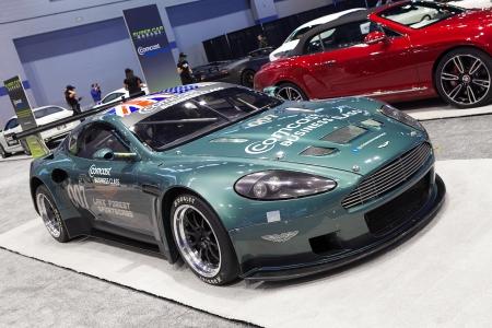 CHICAGO FEBRUARY The Aston Martin Race Car On Display - Aston martin chicago