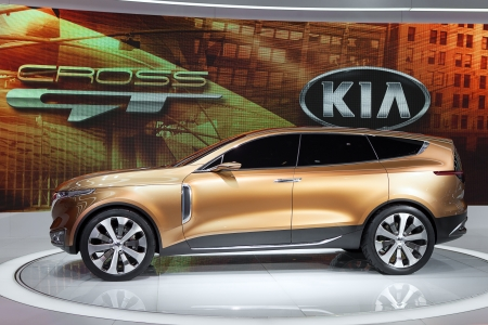 crossover: CHICAGO - FEBRUARY 7 : Kia Cross GT crossover concept on display at the Chicago Auto Show media preview February 7, 2013 in Chicago, Illinois.