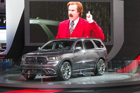 american media: DETROIT - JANUARY 14 : The all new Dodge Durango on display at the North American International Auto Show media preview  January 14, 2014 in Detroit, Michigan. Editorial