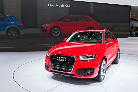 american media: DETROIT - JANUARY 14 : Audi debuts the new Q3 at the North American International Auto Show media preview  January 14, 2014 in Detroit, Michigan.