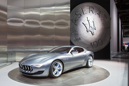 DETROIT - JANUARY 13: The Maserati 2+2 Alfieri design January 13th, 2015 at the 2015 North American International Auto Show in Detroit, Michigan.