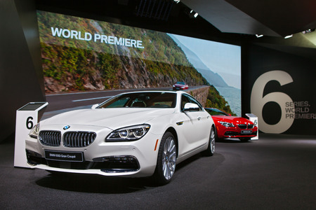 worl: DETROIT - JANUARY 13: World premiere of the BMW 6 series on January 13th, 2015 at the 2015 North American International Auto Show in Detroit, Michigan.