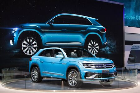 DETROIT - JANUARY 15: The Volkswagen Cross Coupe on display January 13th, 2015 at the 2015 North American International Auto Show in Detroit, Michigan. Editorial