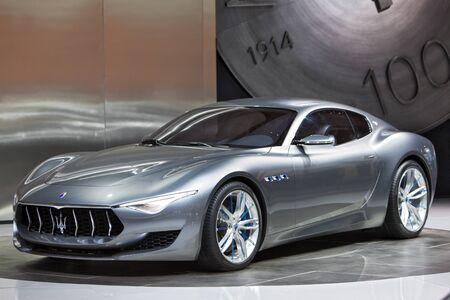 DETROIT - JANUARY 15: The Maserati Alfieri concept January 13th, 2015 at the 2015 North American International Auto Show in Detroit, Michigan. Editöryel