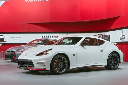 DETROIT - JANUARY 15: A Nissan 370z Nismo January 13th, 2015 at the 2015 North American International Auto Show in Detroit, Michigan. Editorial