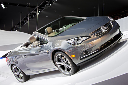 autoshow: DETROIT - JANUARY 15: The new Buick Cascada convertible on display January 13th, 2015 at the 2015 North American International Auto Show in Detroit, Michigan.