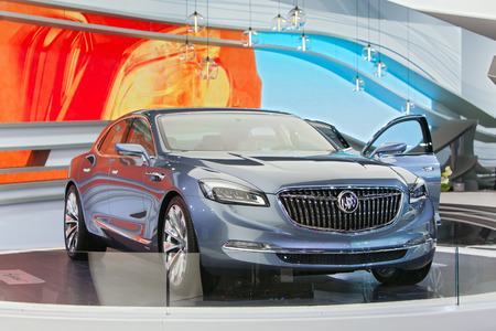 DETROIT - JANUARY 15: The new Buick Avenir concept on display January 13th, 2015 at the 2015 North American International Auto Show in Detroit, Michigan. Editöryel