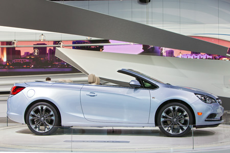 DETROIT - JANUARY 15: The new Buick Cascada convertible on display January 13th, 2015 at the 2015 North American International Auto Show in Detroit, Michigan.