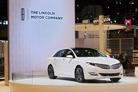 Chicago - February 13: A Lincoln MKX on display February 13th, 2015 at the 2015 Chicago Auto Show in Chicago, Illinois.